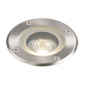 Pillar round IP65 50W recessed - polished stainless steel