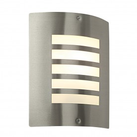 Bianco 1lt wall IP44 60W - brushed stainless steel