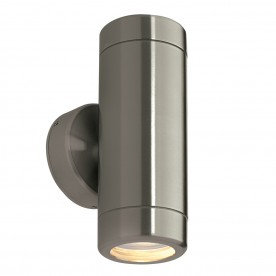 Odyssey 2lt wall IP65 7W - brushed stainless steel