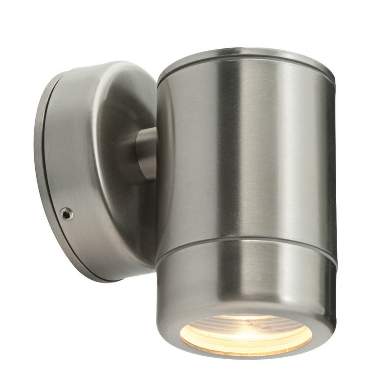 Odyssey 1lt wall IP65 7W - brushed stainless steel