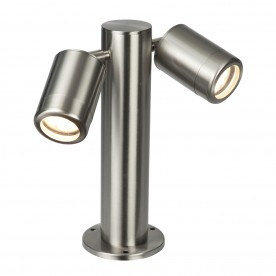 Odyssey 280mm post IP65 7W floor - brushed stainless steel