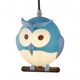 NOVELTY CHILDRENS OWL PENDANT BLUE