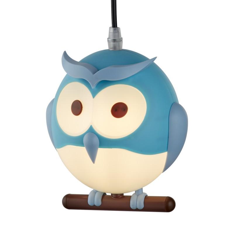 NOVELTY CHILDRENS OWL PENDANT BLUE