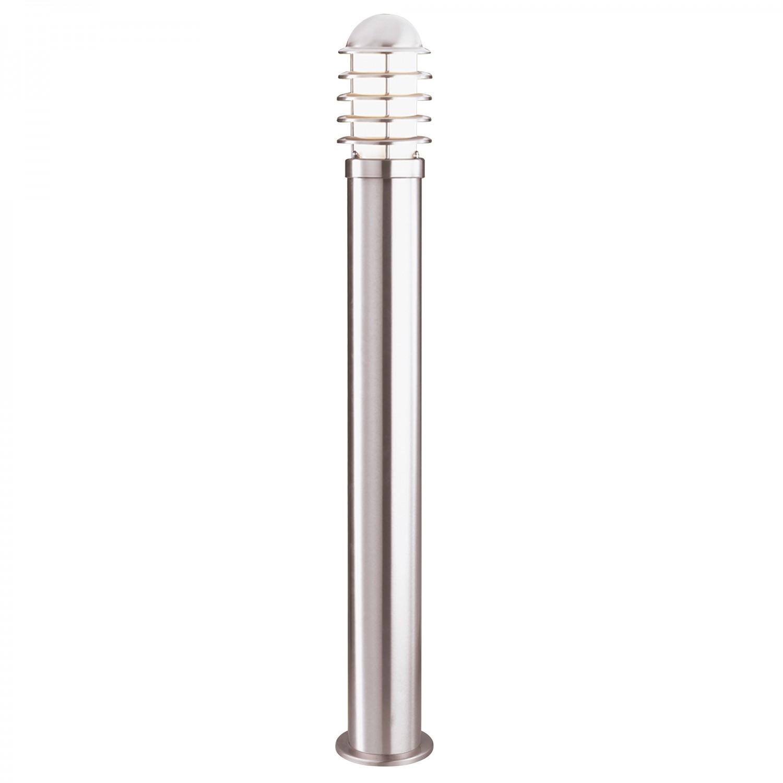 1 Light Outdoor Post Lamp IP44 Satin Silver