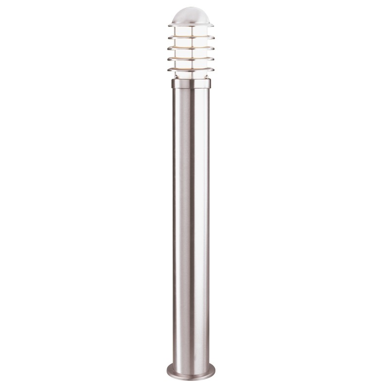 LOUVRE OUTDOOR - 1LT POST (HEIGHT 90cm) STAINLESS STEEL WHITE SHADE