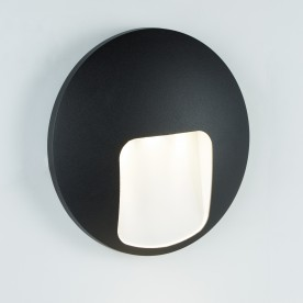 LED OUTDOOR 1LT DISC WALL BRACKET  BLACK