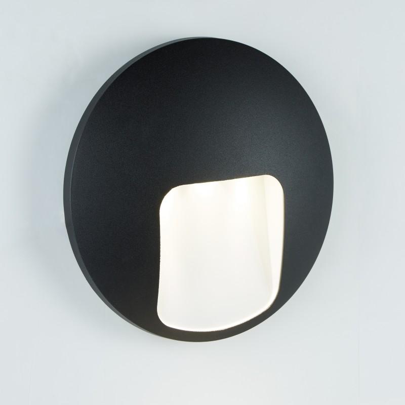 LED OUTDOOR 1LT DISC WALL BRACKET  BLACK