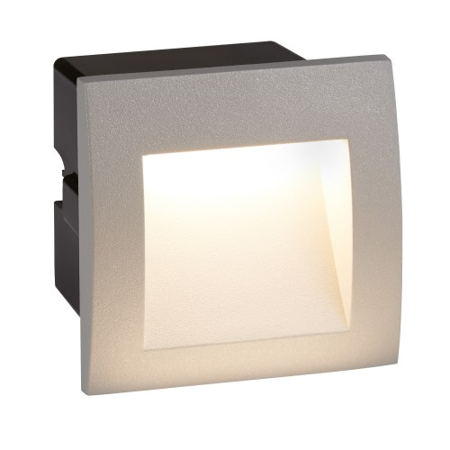 Ankle Square Recessed Outdoor Wall Light In Grey