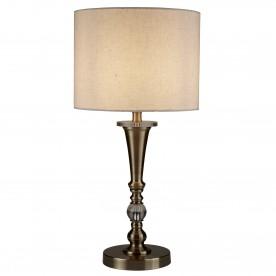 DRUM 1LT TABLE LAMP ANTIQUE BRASS LINEN SHADE