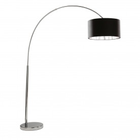 ARCS FLOOR LAMP - CHROME/BLACK SHADE SILVER LINER