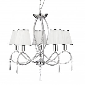 SIMPLICITY - 5LT CEILING CHROME CLEAR GLASS WHITE STRING SHADES