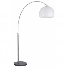 ARCS FLOOR LAMP - 1LT CC/WHITE SHADE BLK BASE