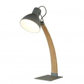 NANNA  TABLE LAMP LIGHT WOOD MATT GREY