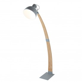 NANNA FLOOR LAMP LIGHT WOOD MATT GREY