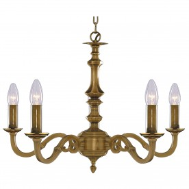 MALAGA - 5LT CEILING ANTIQUE BRASS (NO GLASS)