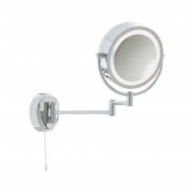 MIRROR - BATHROOM ILLUMINATED MIRROR - CHROME EXTENDABLE SWING ARM LT 190mm