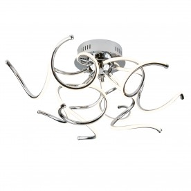 MODERN 9LT LED TWIST ARMS CEILING FLUSH CHROME