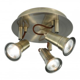 EROS - 3LT SPOTLIGHT DISC ANTIQUE BRASS
