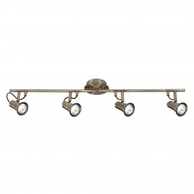 EROS - 4LT SPOTLIGHT SPLIT-BAR ANTIQUE BRASS