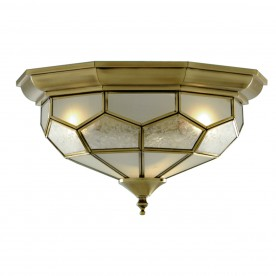 FLUSH ANT/BRASS LEADED C/FTG 29cm