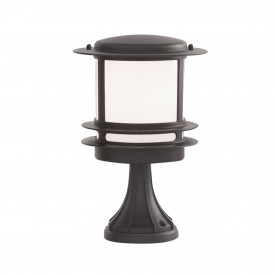 STROUD BOLLARD/POST LAMP - BLACK ALUMINIUM