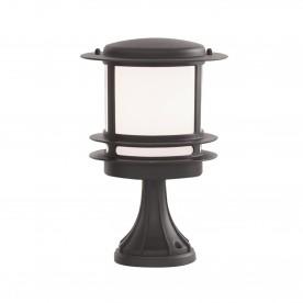 STROUD BOLLARD/POST LAMP - BLACK ALUMINIUM