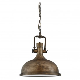INDUSTRIAL PENDANT - 1LT PENDANT BLACK GOLD FROSTED GLASS