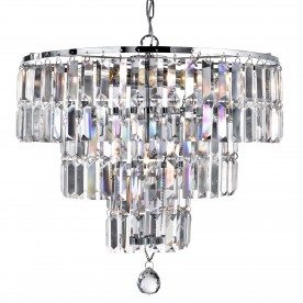 EMPIRE - 5LT CHANDELIER CHROME CLEAR CRYSTAL