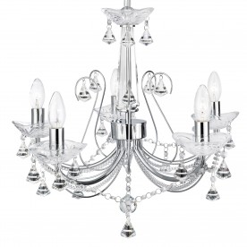 LAFAYETTE - 5LT CEILING CHROME CLEAR CRYSTAL