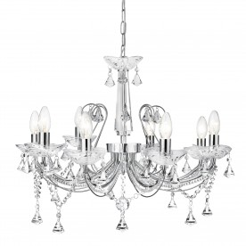 LAFAYETTE - 8LT CEILING CHROME CLEAR CRYSTAL