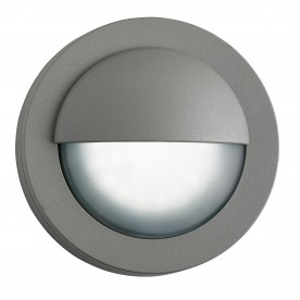 LED OUTDOOR ROUND GREY FLUSH