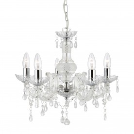 MARIE THERESE - 5LT CEILING CLEAR GLASS/ACRYLIC