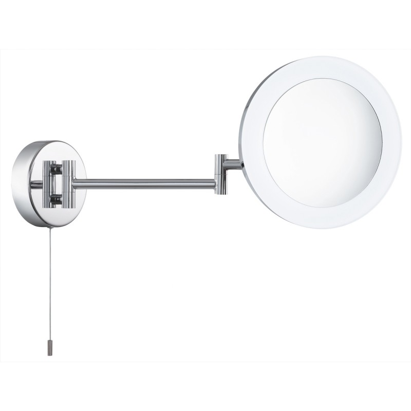 MIRROR - BATHROOM SHAVING MIRROR 3 x  MAGNIFICATION IP44 CHROME FROSTED OUTER