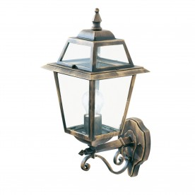 NEW ORLEANS - 1LT OUTDOOR (UPLIGHT) WALL BRACKET BLACK GOLD CLEAR GLASS