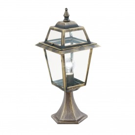 NEW ORLEANS - 1LT OUTDOOR POST (Height 50cm) BLACK GOLD CLEAR GLASS
