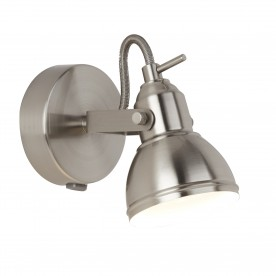 FOCUS - 1LT SATIN SILVER INDUSTRIAL SPOTLIGHT