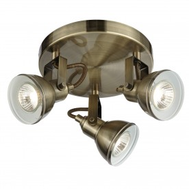 FOCUS - 3LT SPOTLIGHT DISC ANTIQUE BRASS