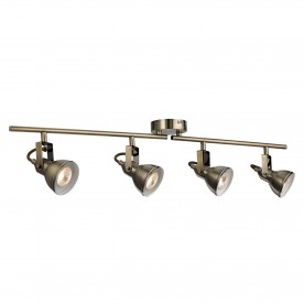 FOCUS - 4LT SPOTLIGHT SPLIT-BAR ANTIQUE BRASS
