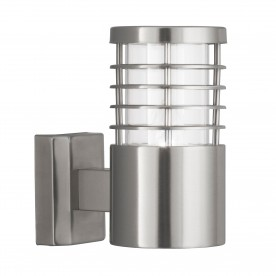 LOUVRE OUTDOOR - 1LT W/BRACKET STAINLESS STEEL CLEAR POLYCARBONATE