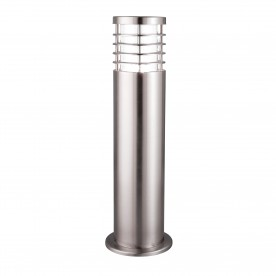 LOUVRE OUTDOOR - 1LT OUTDOOR POST (HEIGHT 45cm) STAINLESS STEEL CLEAR POLYCARBONATE