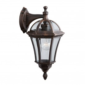 CAPRI - 1LT OUTDOOR W/BRACKET (DOWN LIGHT) RUSTIC BROWN CLEAR GLASS