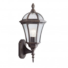 CAPRI - 1LT OUTDOOR W/BRACKET (UP LIGHT) RUSTIC BROWN CLEAR GLASS