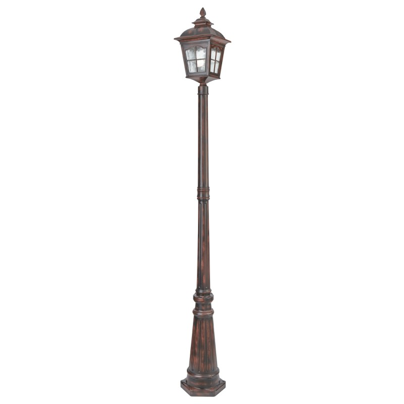 POMPEII - 1LT OUTDOOR POST (Height 212cm) BROWN STONE WATER GLASS