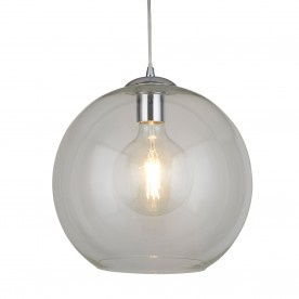 BALLS 1LT ROUND PENDANT (30cm dia) CLEAR GLASS CHROME