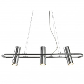 TELESCOPE 3LT CYLINDER SHADE PENDANT BAR CHROME