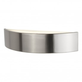 WALL BRACKET HALF MOON LED SATIN SILVER FROSTED GLASS