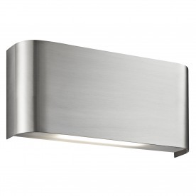 WALL LIGHT LED 2LT 10W SATIN SILVER UP/DOWNLIGHT