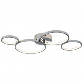 SOLEXA 4 RING LED CEILING FLUSH CHROME