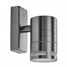 LED OUTDOOR & PORCH (GU10 LED) - 1LT WALL BRACKET (D/LT) STAINLESS STEEL FROSTED GLASS