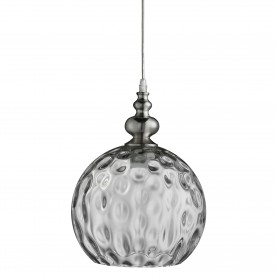INDIANA - 1LT PENDANT SATIN SILVER CLEAR GLASS